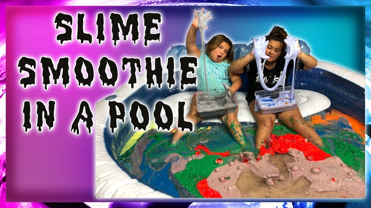 Slime Mary Izzy: MIXING ALL OUR GIANT SLIMES IN OUR POOL