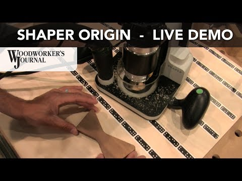Shaper Origin Handheld CNC Router Demonstration | AWFS 2017