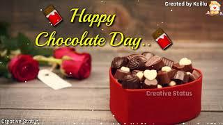 Happy chocolate Day whatsapp status video | Romantic chocolate Day status | Valentine Week Status