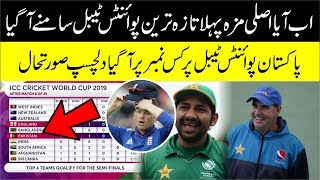 Latest Points Table   Icc World Cup 2019    Which Position Pakistan Team Hold In Points Table?