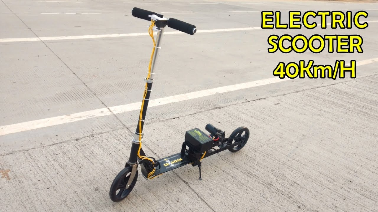 how to make a simple high speed electric scooter at home. Black Bedroom Furniture Sets. Home Design Ideas
