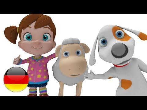 Mary Hatte Ein Kleines Lamm | Deutsche Kinderlieder | Vorschulische Lieder | Reime Für Babies | Wie