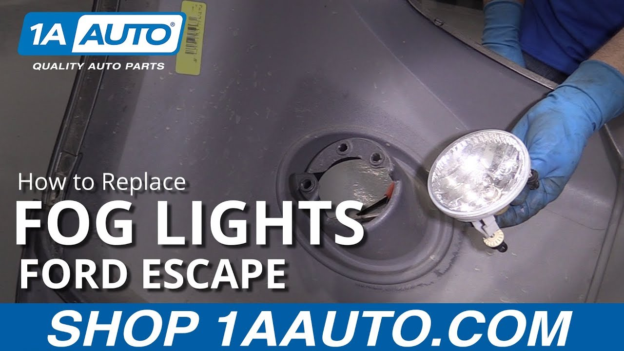 hight resolution of how to replace fog lights 07 12 ford escape