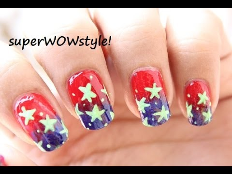 4th Of July Nail Art Tutorial *US flag Nail Designs* Independence Day -  YouTube - 4th Of July Nail Art Tutorial *US Flag Nail Designs* Independence