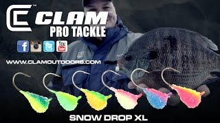 Ice Fishing Secret Jig | The Snow Drop XL by Clam Pro Tackle