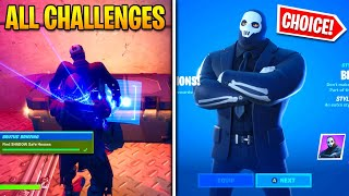 Fortnite *ALL* Brutus Challenges EASY GUIDE! Shadow Or Ghost Choice Unlocked!