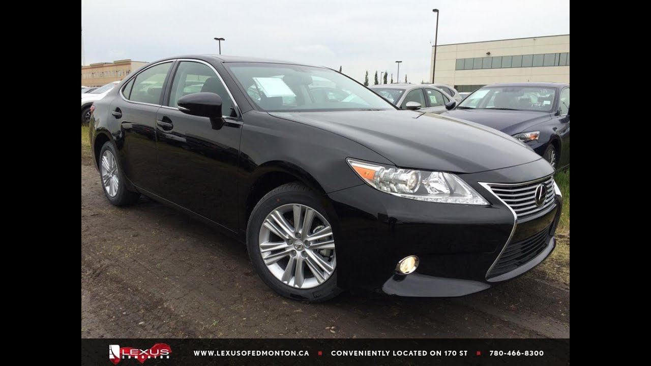 New black 2015 lexus es 350 premium package review east edmonton new black 2015 lexus es 350 premium package review east edmonton youtube freerunsca Choice Image