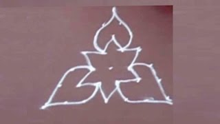 Rangoli Design with dots easy to draw and beutiful for beginners-3 By Meartist.in