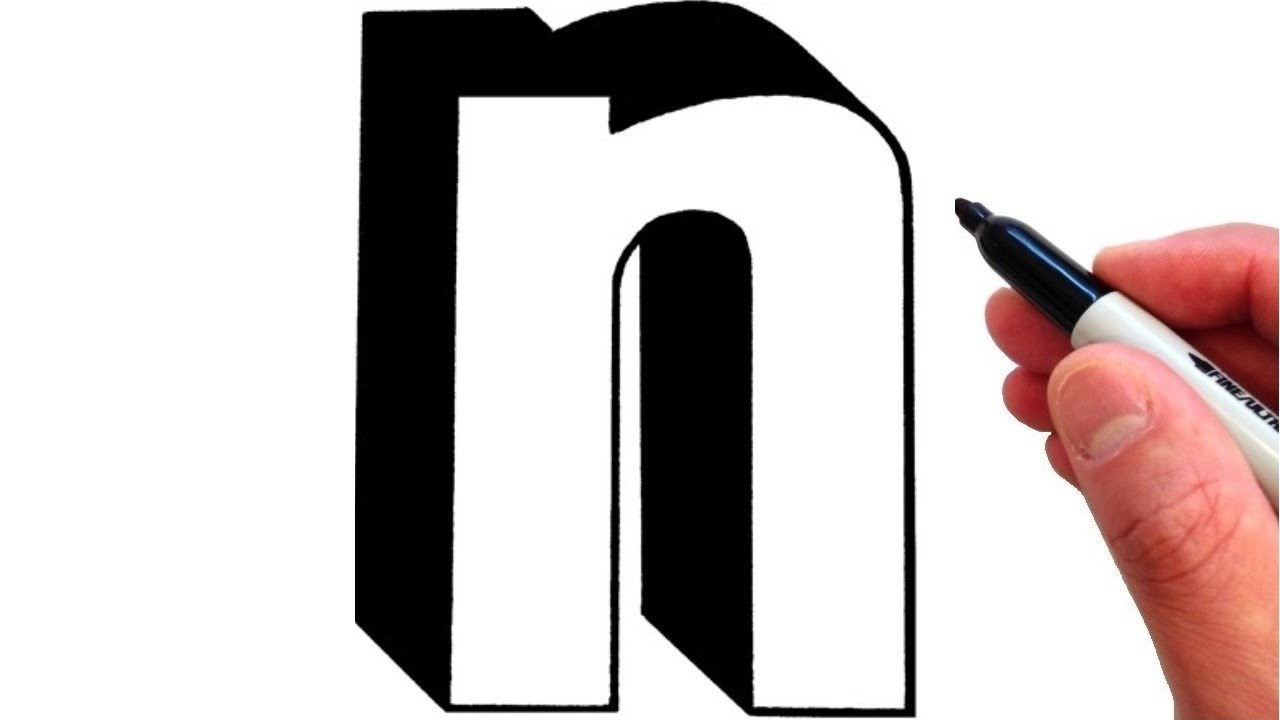 How to Draw Letter n in Lowercase 3D   YouTube