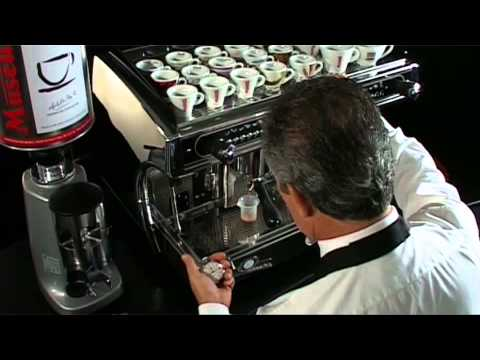 Adjusting an espresso machine caff musetti youtube for Musetti coffee