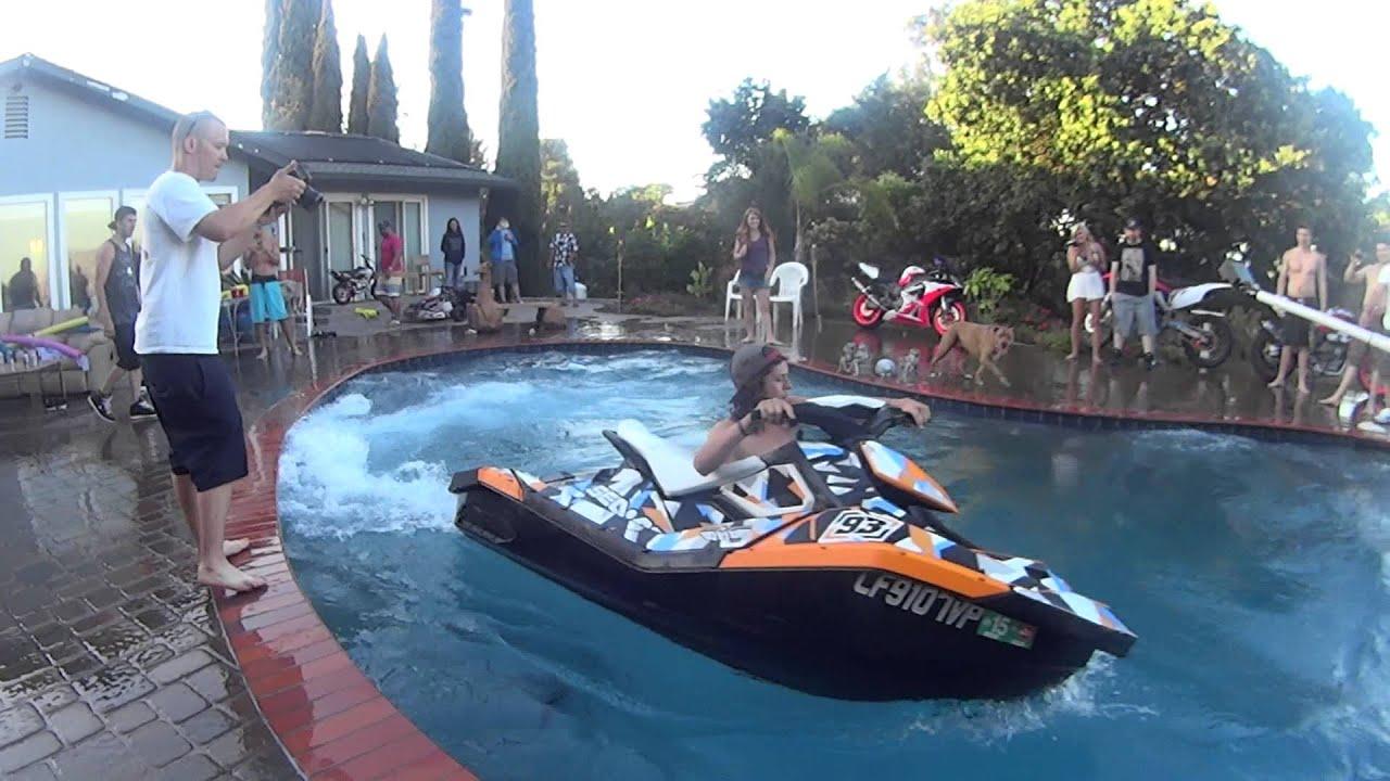 Jet Ski Getting Wild In A Swimming Pool Youtube