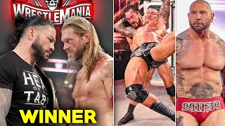 Roman Reigns Vs Edge Wrestlemania Result Revealed !? Fake Fans in WWE, Batista Against Cena & Rock
