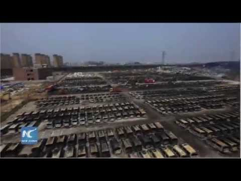 Shocking devastation: Drone captures panoramic view of Tianjin blast site