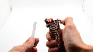 Обзор выкидного ножа зажигалки подарочный