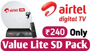 Airtel DTH NEW PACK, Recharges, Plans  & Offers || Airtel DTH Value Lite PACK SD channels List 2020