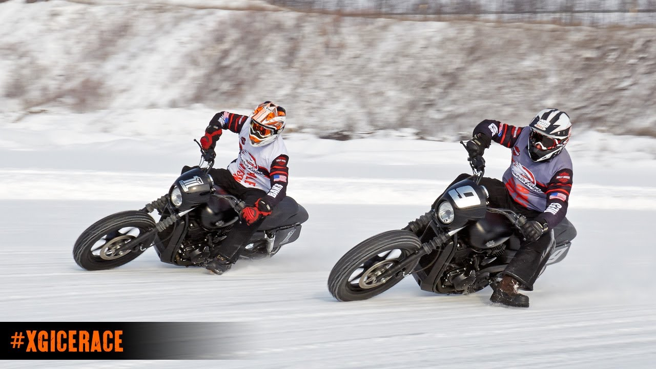 Harley Davidson Ice Racing Featuring The H D Street Youtube