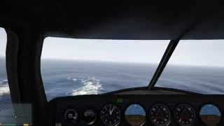 Grand Theft Auto V (PC) Flying into a military base @ 60 FPS 1080 P