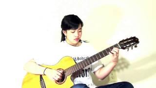 (Trịnh Công Sơn) Dấu chân địa đàng (Virginia Nguyen - Bé Mẫn) guitar solo