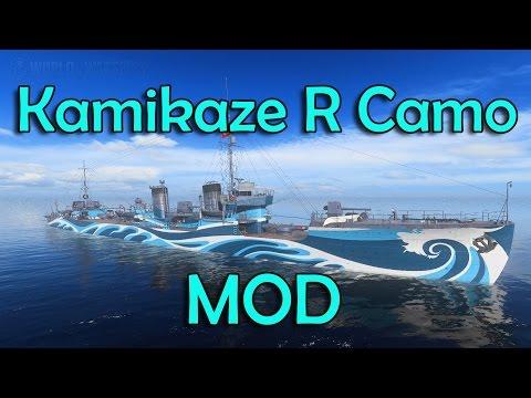 How to put Kamikaze R Camo into Kamikaze & Fujin (World of Warships Tutorial)