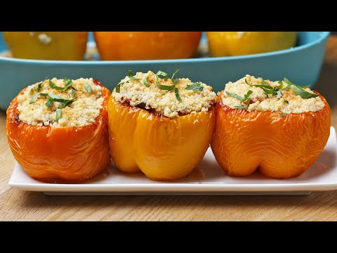 Quinoa & Ratatouille-Stuffed Peppers