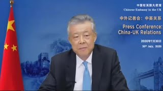 China's ambassador says UK interventions have 'poisoned' relations | AFP