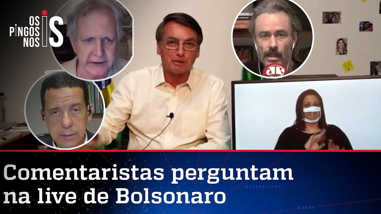 EXCLUSIVO: Entrevista durante a live de Jair Bolsonaro de 16/07/20