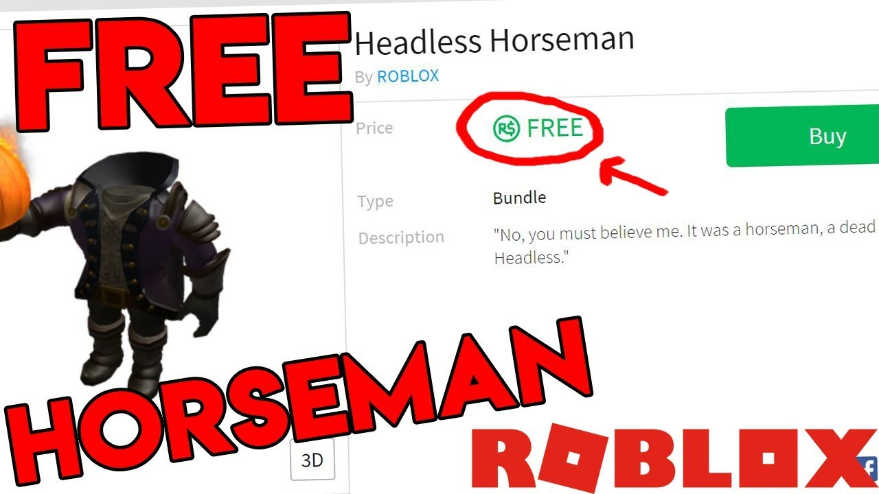 HOW TO GET THE HEADLESS HORSEMAN FOR FREE! (Roblox Tutorial)
