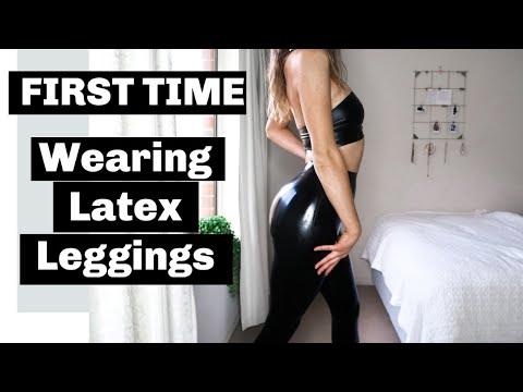 Latex leggings photos