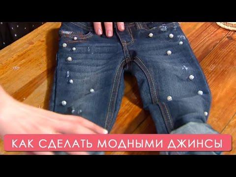 Девушку в джинсах трахнул в анал и в письку