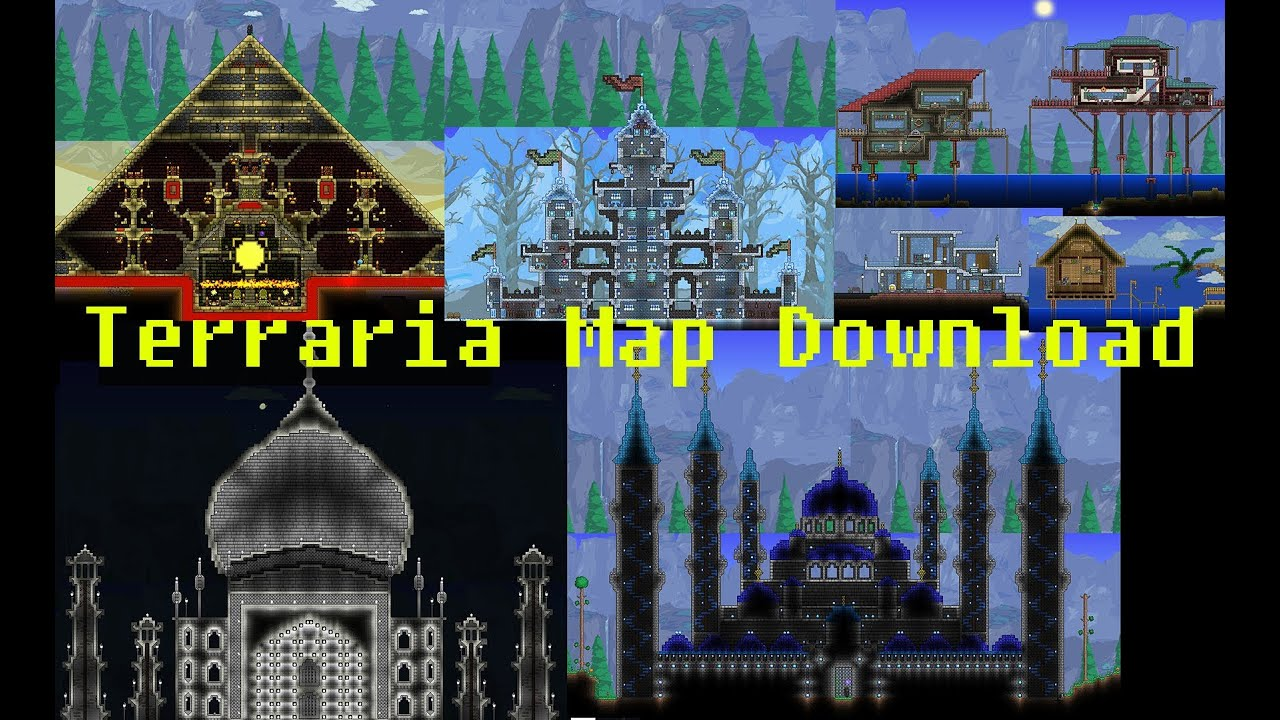 Terraria Download Maps My Terraria Map [Download link in description]   YouTube