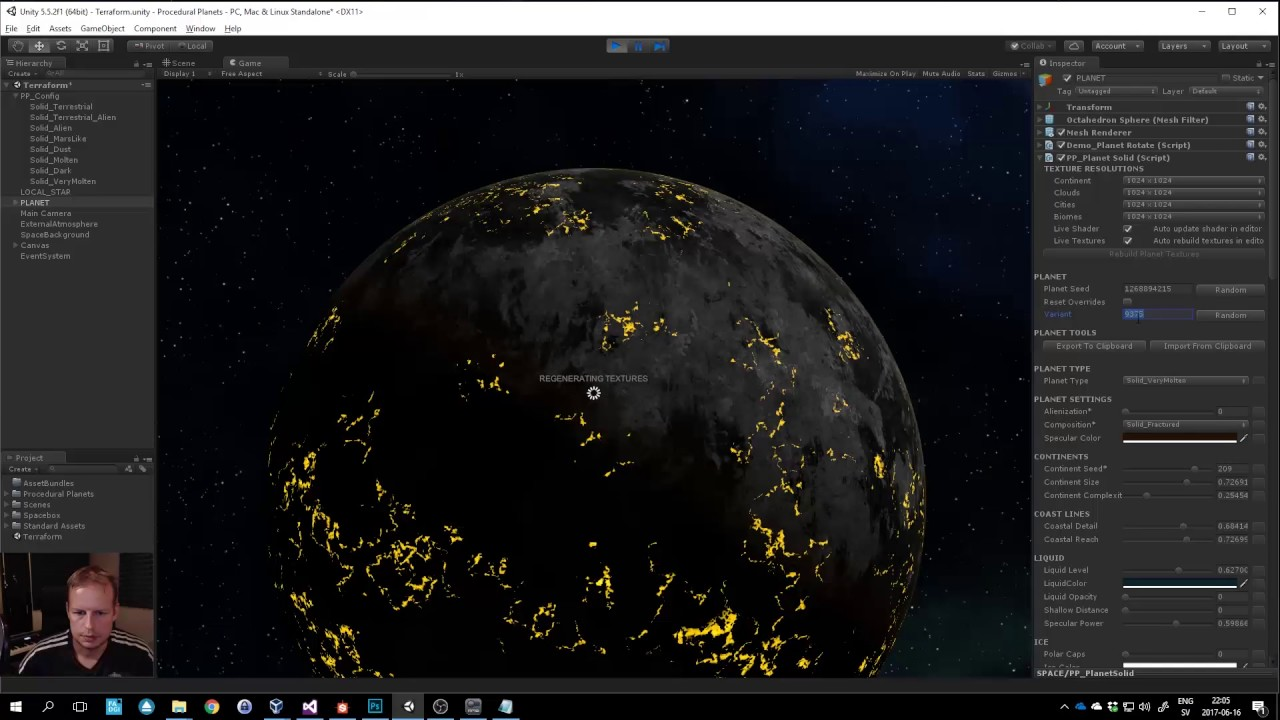 Unity3D Procedural Planets - PlanetType/Template Update