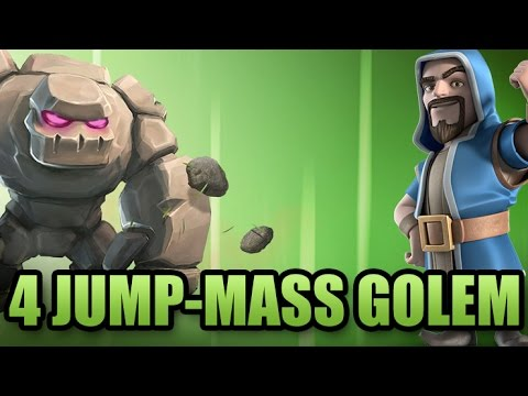 Full Flying Golem Strategy | 4 Jump/Mass Golem/Gowiwi/Gowiho Attack | Clash Of Clans