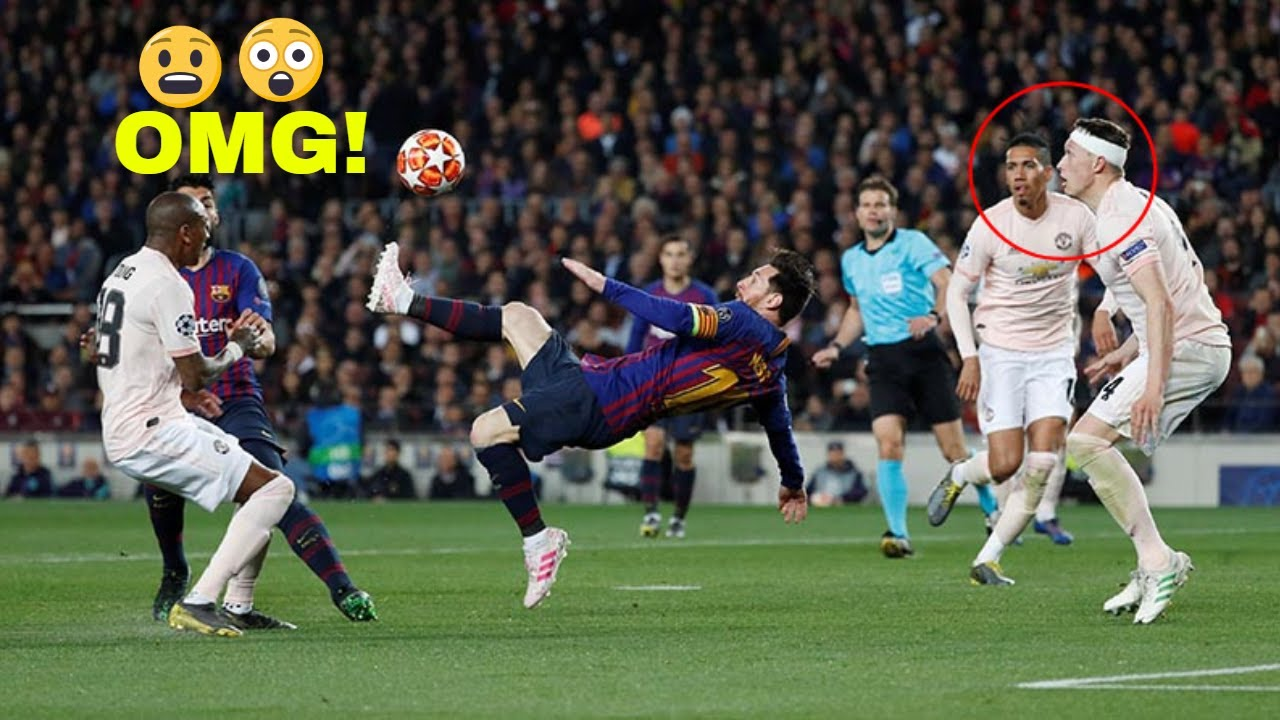 Lionel messi bicycle kick against manchester united 2019 youtube - Messi bicycle kick assist ...