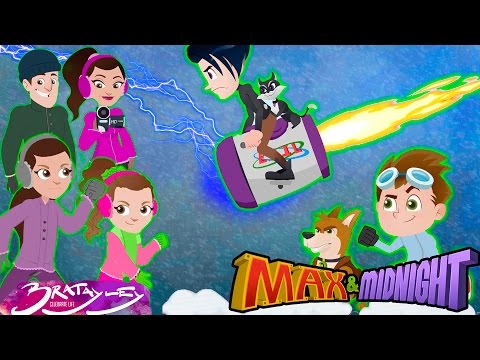 Bratayley Girls Hayley and Annie LeBlanc save city from world's largest blizzard! Cartoon Adventure!
