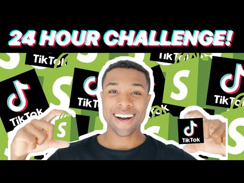 I Tried Shopify Drop-Shipping on TikTok for 1 Day! (24 HOUR DROPSHIPPING CHALLENGE) thumbnail