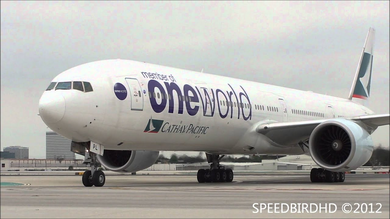 Cathay Pacific Airways 'ONE WORLD Livery' Boeing 777-367 ...