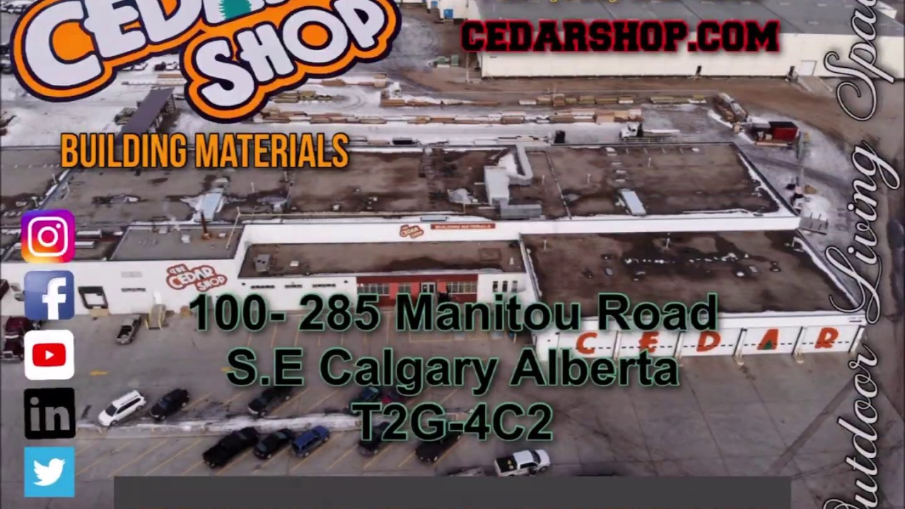 The Cedar Shop » Calgary, Alberta » Lumber Products