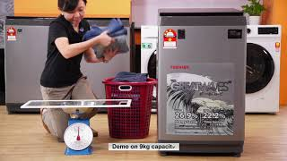Toshiba THE GREATWAVES™ Top Loading Washer, AW-J1000FM(SG) 9kg