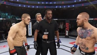 Khabib Nurmagomedov vs. Conor McGregor (Champ Fight) - EA Sports UFC 3 (CPU vs. CPU)