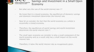 EC2102-2012 Tutorial 4 - Savings and Investment in a Small Open Economy