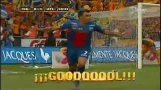 Primer Gol de Esteban Paredes en el Partido del  Tigres 0 Vs Atlante 1 - Liga De Mexico
