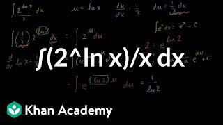 2 ln x x antiderivative example