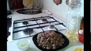 Куринная печень с апельсином, запечённая в духовке