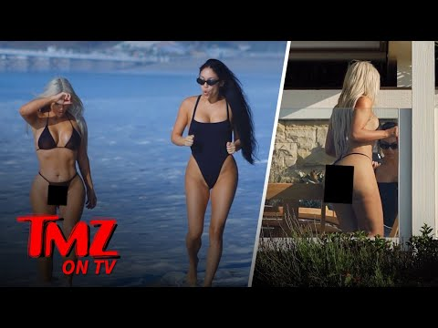 See Kim Kardashian and Assistant Looking Good at the Beach!