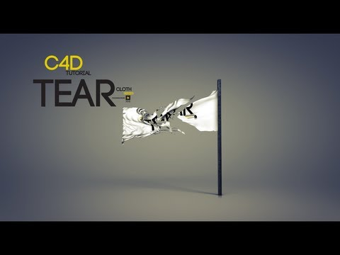 CINEMA 4D Cloth TEAR tutorial  ( HOW TO TEAR CLOTH )
