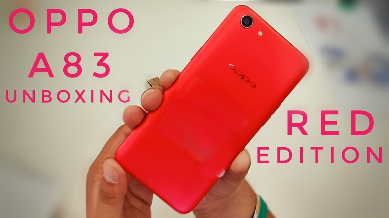 Oppo A83 Unboxing (2018) Limited Red Edition