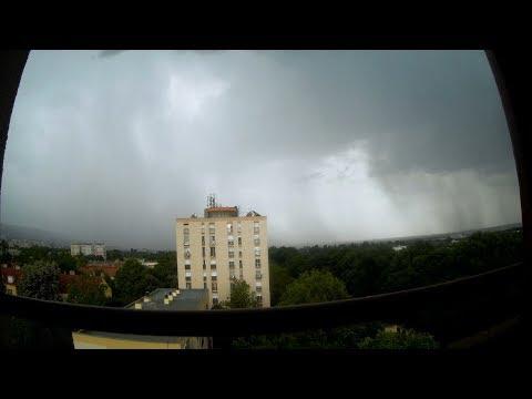 Summer Rain Pécs( Fünfkirchen,Sopianae) Hungary!(TIMELAPSE)