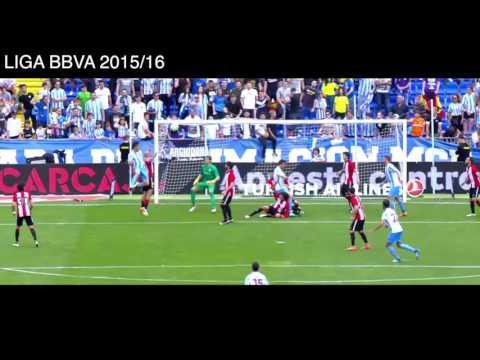 Malaga 0-1 Athletic de Bilbao, Gol y Resumen, Liga BBVA 2016