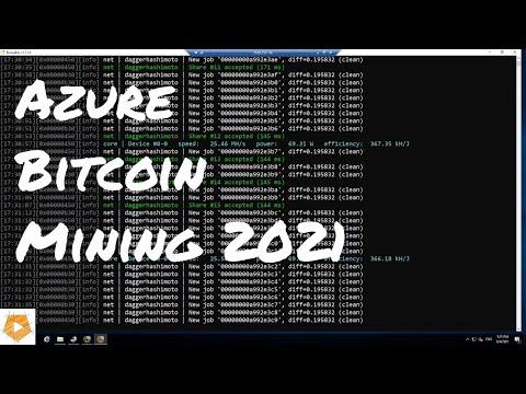 Azure Bitcoin Mining Tutorial Using NiceHash