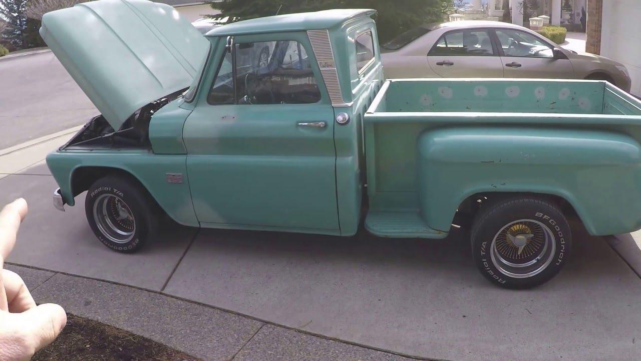 1966 Chevrolet C10 Short Bed Stepside Youtube Truck